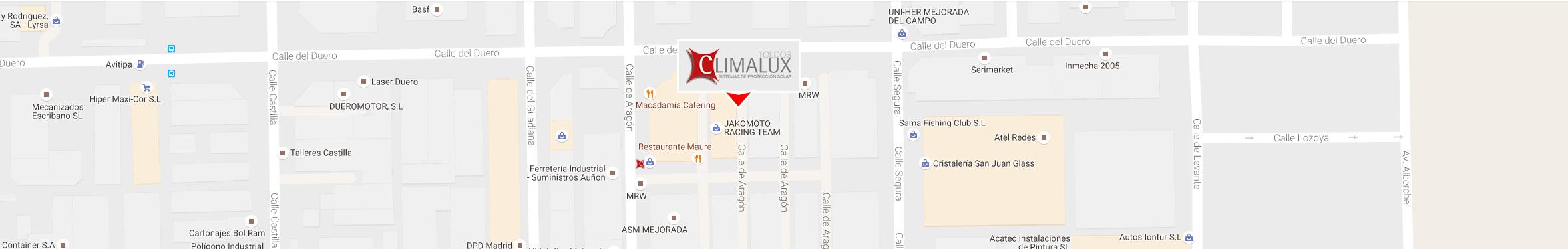 Contacto toldos climalux rivas vaciamadrid for Oficina de correos rivas vaciamadrid